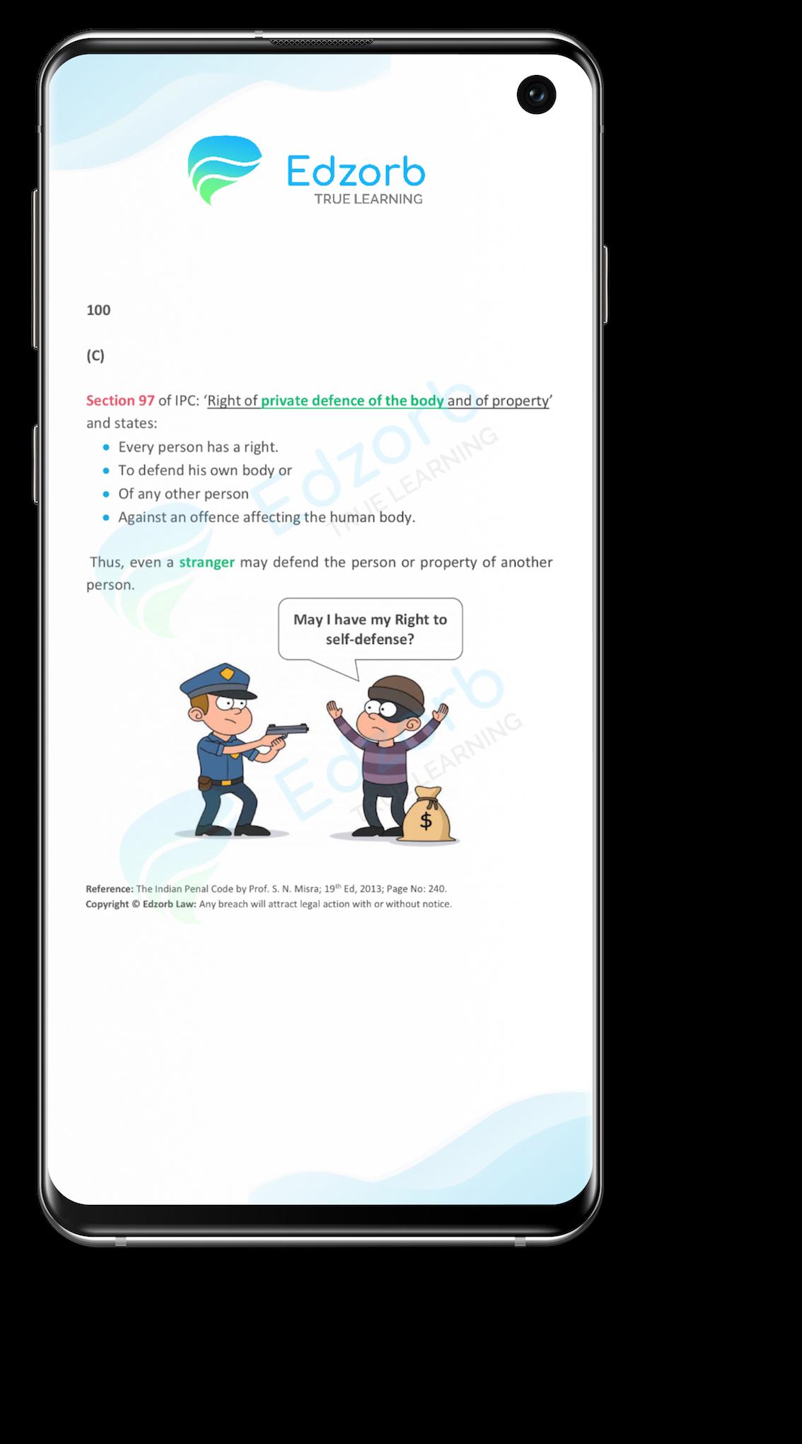 Edzorb Law Test Question
