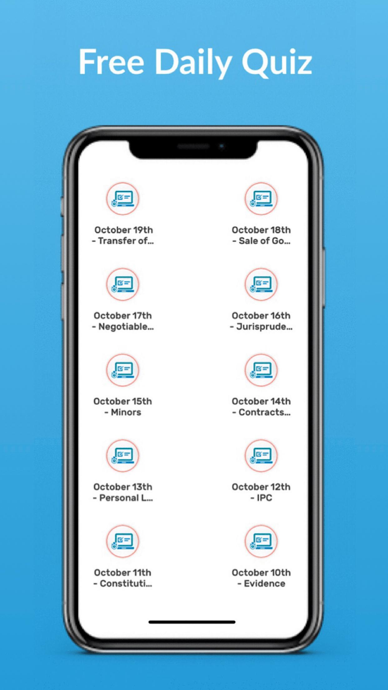 Edzorb Law App Screen shot - Free Daily Quiz-min